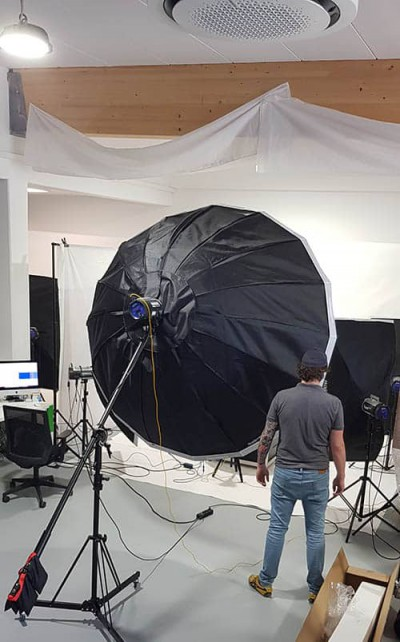Große 360 Grad Produktfoto Lampe
